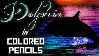Watch me Draw: A Dolphin in the Sunset COLORED PENCILS