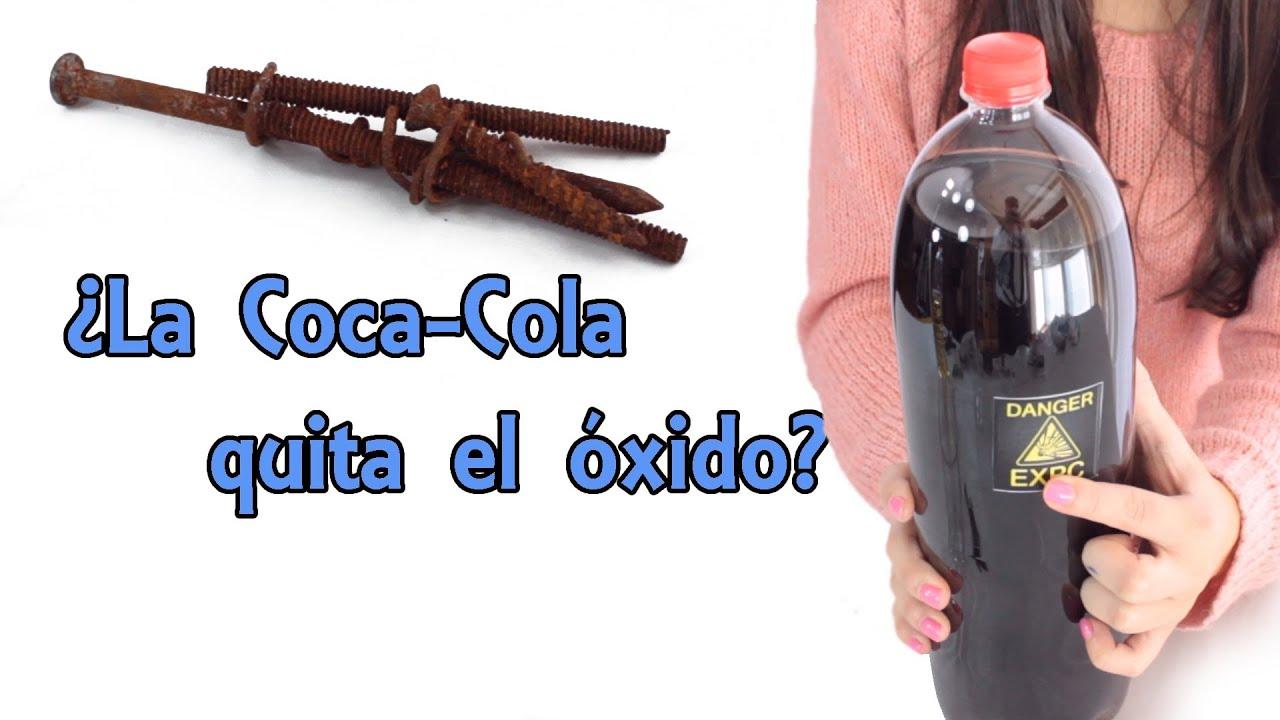 La coca cola quita el xido mito desvelado experimentos - Como quitar el oxido del wc ...