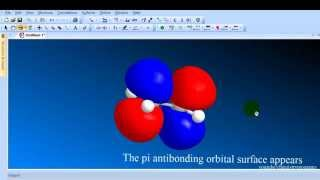 Chem3D tutorial 7 Viewing Orbitals  HOMO and LUMO