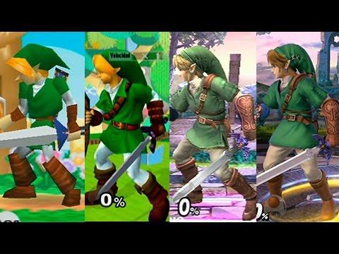 Super Smash Bros Wii U | Link Evolution