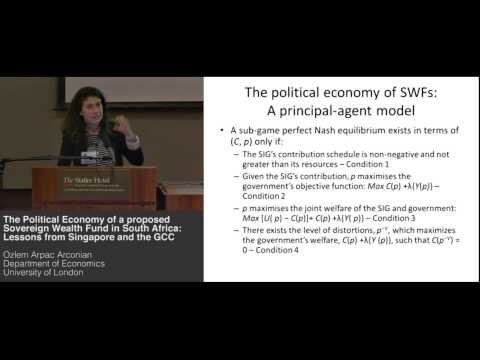 Ozlem Arpac Arconian - a Sovereign Wealth Fund in South Africa:  Lessons from Singapore and the GCC