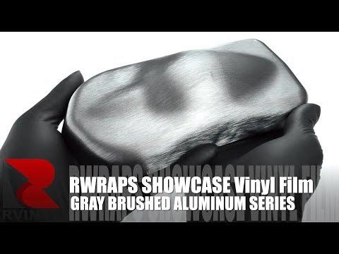Gray Brushed Aluminum Rwraps™ Vinyl Wrap