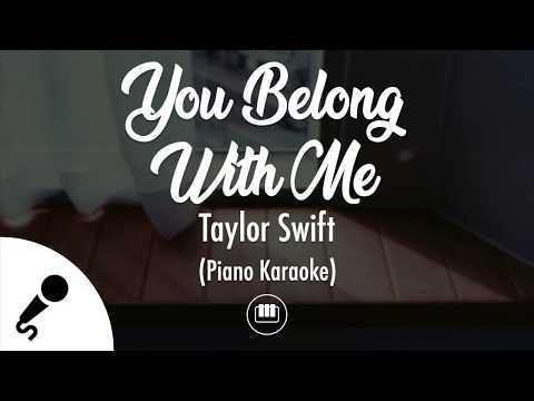 You Belong With Me - Taylor Swift (Piano Karaoke)
