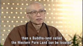 Where exactly is the Western Pure Land (GDD-690, Master Sheng-Yen)