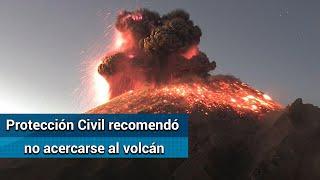 Así se vio la explosión del Popocatépetl; generó fumarola de 3 kilómetros