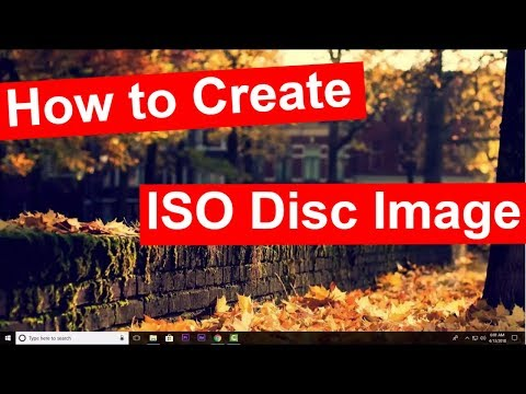 How to create disk ISO image in windows 10 from CD/DVD
