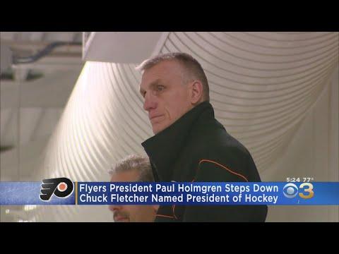 Flyers President Paul Holmgren Steps Down