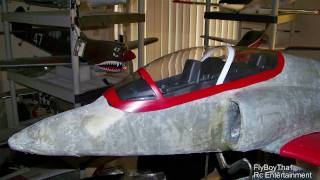 fiberglassing a flyfly red arrow bae hawk