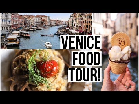 Venice Food Tour! BEST Venice Restaurants: Pasta, Seafood, Gelato, And Chicchetti!
