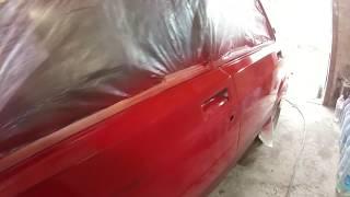 Покраска в обычном гараже ваз 2107! Подготовка к покраске своими руками! Кузовной ремонт классики!