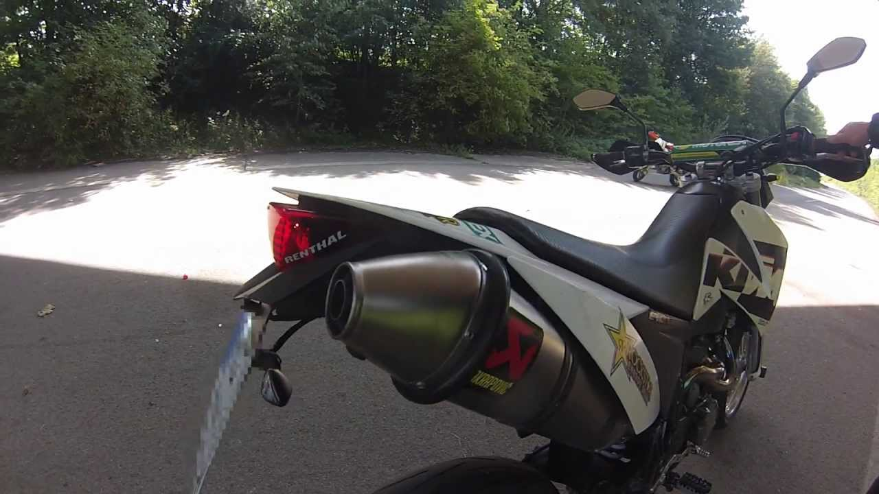 ktm 640 lc4 supermoto akrapovic - youtube