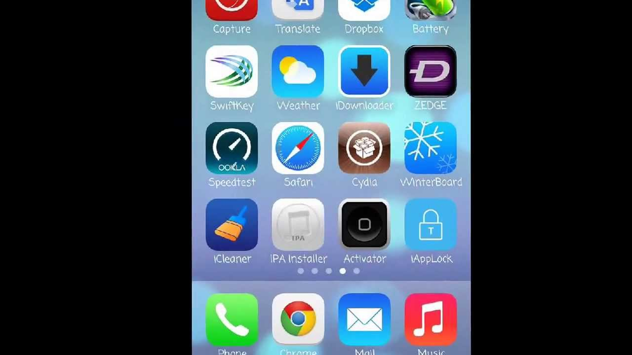 How To Get the Dynamic Wallpapers of iOS 7 on your iPhone 4 (Jailbreak Required) - YouTube
