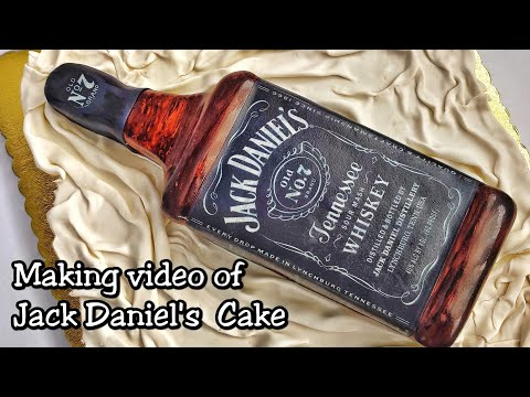 jack-daniel's-cake-making-video.-jack-daniel's-bottle-cake-tutorial-in-malayalam.