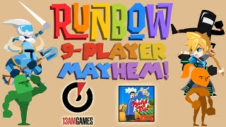 Runbow - 9-Player Mayhem! Yoshiller vs. 13AM Games vs. AbdallahSmash026!