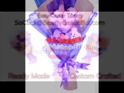 New 1 Soft Plush Doll Flower Bouquet Gift
