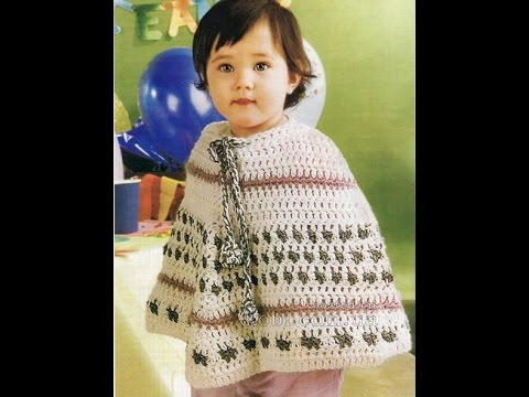 Crochet Patterns For Free Poncho Patterns For Kids 1116 Youtube