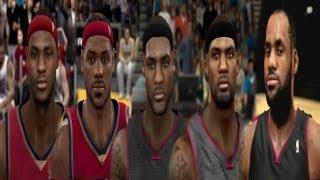Lebron JAMES fron NBA 2k7 to NBA 2k14
