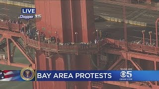 Crowd Gathers To Form Unity Chain Across Golden Gate Bridge