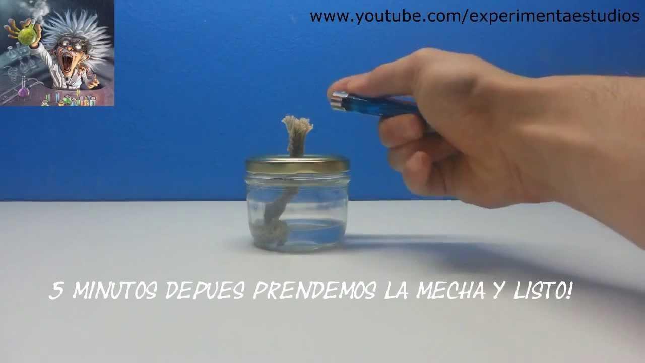 Lámpara De Alcohol como se hace (experimentos caseros