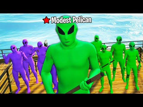 ALIENS ARE ATTACKING EVERYONE ON GTA5