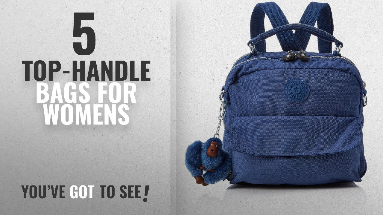 Top 10 Top Handle Bags For Womens 2018 Kipling Candy Women S Backpack Handbag Blau Jazzy