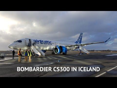 Bombardier CS300 at Reykjavik Airport (BIRK)