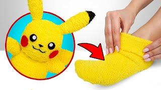 The Cutest Plush Sock Toy DIY Pikachu