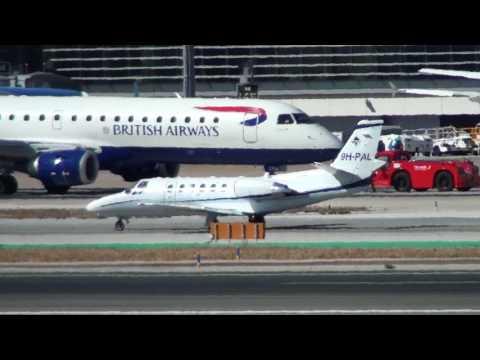 Private Cessna 550B Citation Bravo 9H-PAL Taxing Malaga LEMG