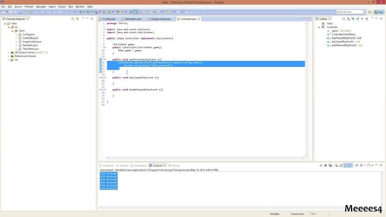Java tetris tutorial 7 setting up key listener youtube java tetris tutorial 7 setting up key listener baditri Image collections