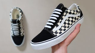 How To BAR LACE Vans Old Skools (THE BEST WAY!!)