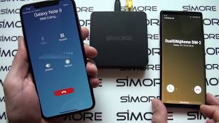iPhone XS Max DualSIM@home router adapter with 3 active numbers without carrying any extra device