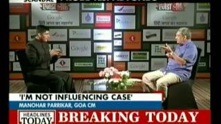 Manohar Parrikar talks bout the Tarun Tejpal and Tehelka