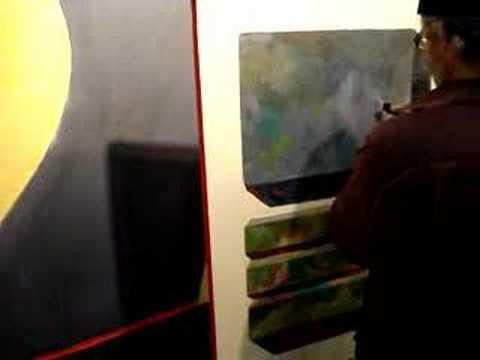 Anton Kandinsky working in his studio, New York