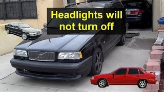 Daytime driving lights settings on Volvo Cars. Headlights on all the time. - VOTD