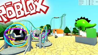 ROBLOX TYCOON - MY OWN AMUSEMENT PARK!!! - Spanish Gameplay