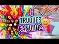 8 TRUQUES E DIY'S COM CANUDO DO PINTEREST | Carol Alves