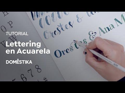 Tutorial Ilustración: Lettering En Acuarela  - Ana Victoria Calderón - Domestika