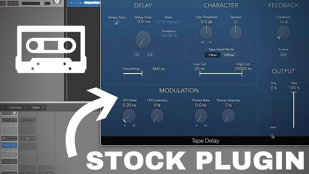 Tape Saturation in Logic Pro X - Stock Tape Delay Plug-In