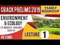 Environment and Ecology 2018-19 Current Affairs Set 1 for UPSC CSE Prelims 2019 हिंदी में