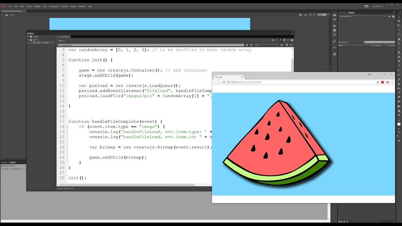 Load an image using an URL in Animate CC CANVAS