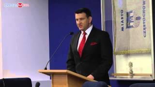 Marcin Maranda na I Sesji Rady Miasta Częstochowy