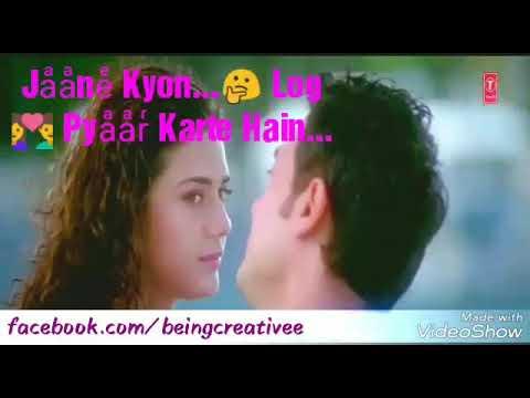 WhatsApp Status Video || Jaane Q Log Pyar Karte Hai...
