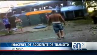 Fuertes imagines de accidente de transito en Cuba - América TeVé