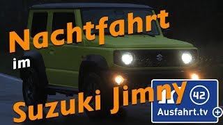 Nachtfahrt mit dem 2019 Suzuki Jimny mit LED Scheinwerfern