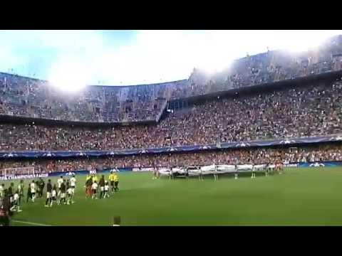Himno de la Champions en el Estadio de Mestalla
