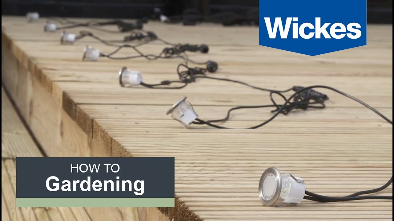 how to install deck lighting with wickes youtube 120V Electrical Switch Wiring Diagrams how to install deck lighting with wickes