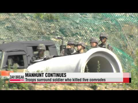 Troops surround soldier who killed five comrades