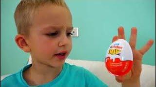 おかしいキッズと巨大なチョコレートエッグサプライズ子供のためのおかしいビデオ