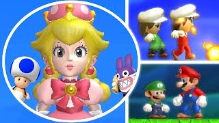 New Super Mario Bros. U Deluxe All Characters Unlocked - Blue Toad Peachette & More