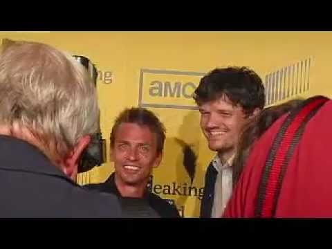 Charles Baker, Matt L. Jones, and Aaron Paul at Breaking Bad season 4 premiere